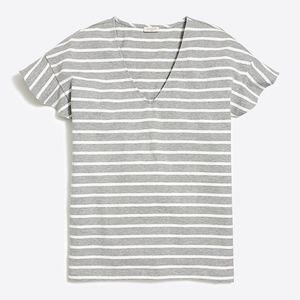 J.Crew Stripe Ruffle Sleeve Tee Shirt NEW!